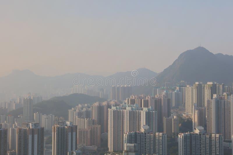 sikt av östliga kowloon på den svarta kullen royaltyfri foto
