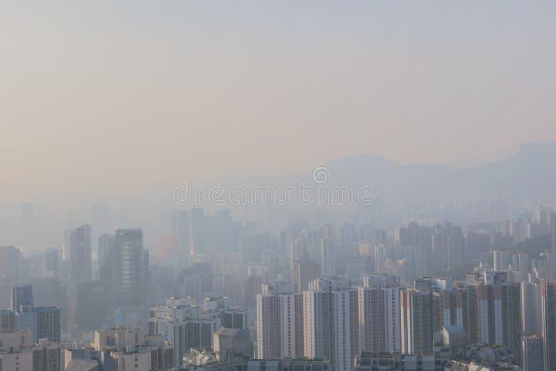 sikt av östliga kowloon på den svarta kullen royaltyfri bild