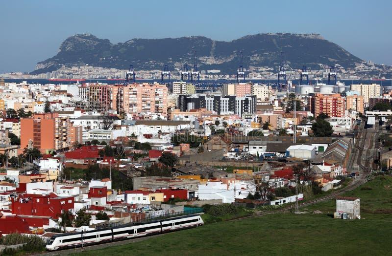 Sikt av Algeciras arkivfoto