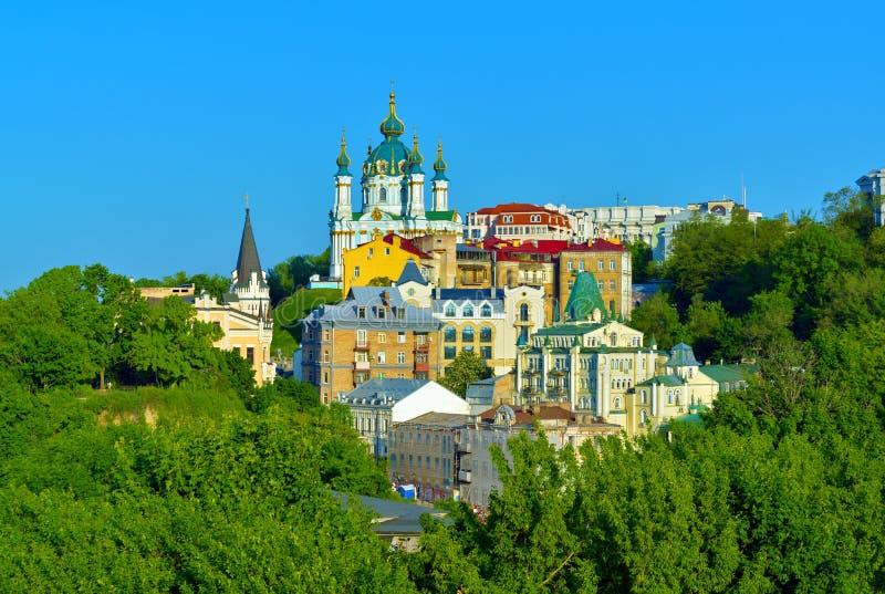 Sikt av Andrew'sens nedstigning i Kiev arkivbild