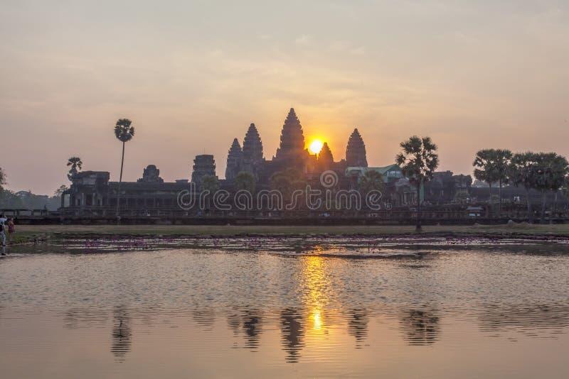 Sikt av Angkor, Siem Riep, Cambodja arkivbild