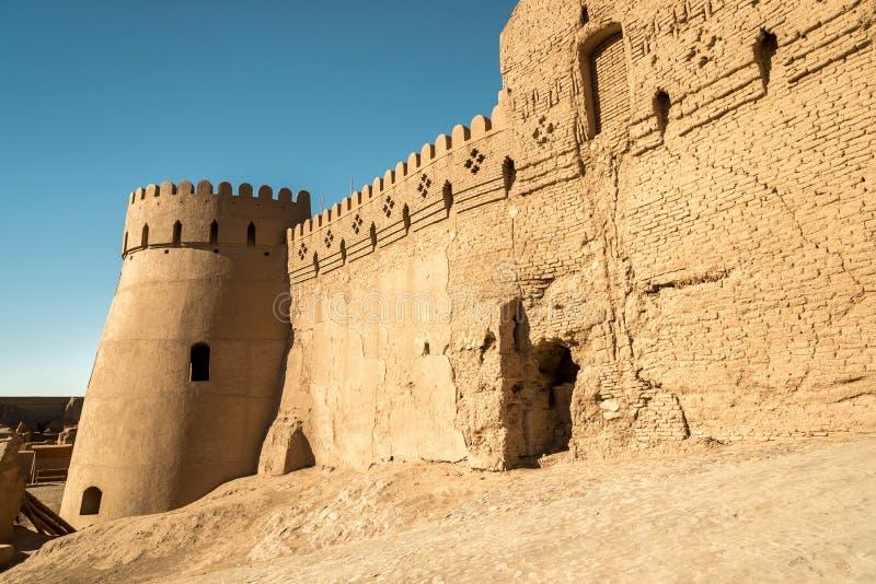 Sikt av Arg-e Bam - Bam Citadel, Iran royaltyfria foton