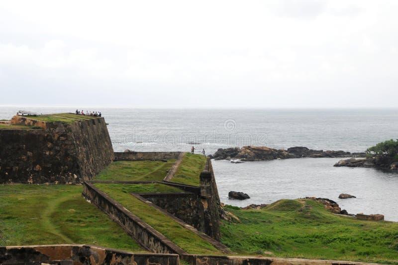 Sikt av arkitekturen av fortet Galle arkivbilder
