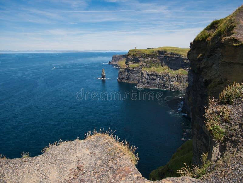 Sikt av Atlanticet Ocean på klipporna av Moher fotografering för bildbyråer