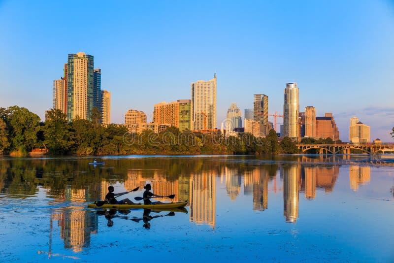 Sikt av Austin, i stadens centrum Texas royaltyfri fotografi