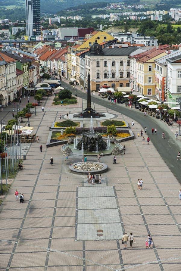 Sikt av Banska Bystrica arkivbilder