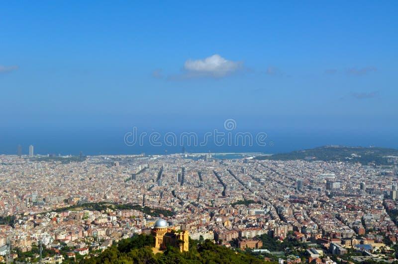 Sikt av Barcelona fotografering för bildbyråer