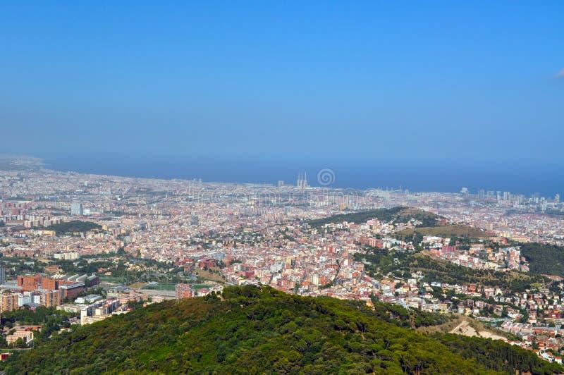 Sikt av Barcelona royaltyfria bilder