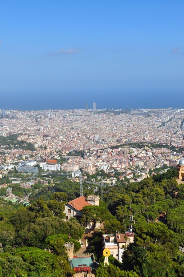 Sikt av Barcelona arkivbilder