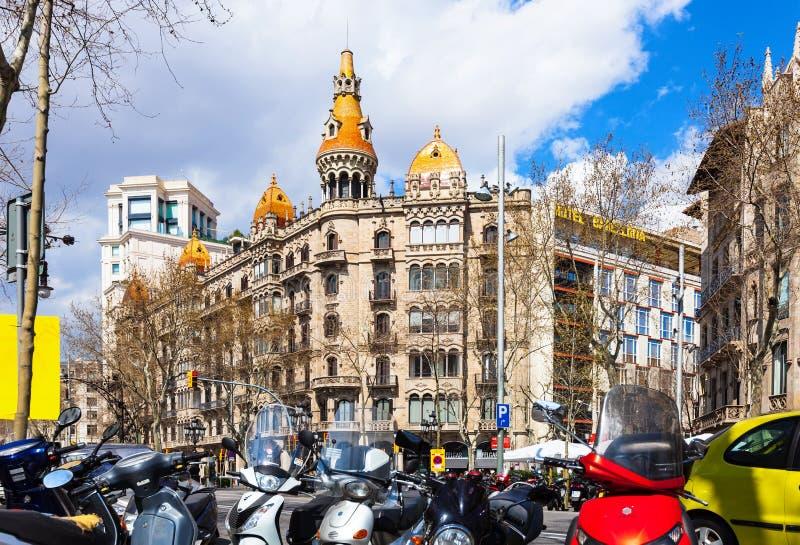 Sikt av Barcelona, Spanien arkivfoto