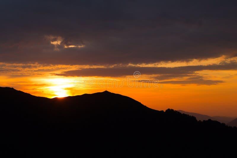 sikt av bergen i Carpathians fotografering för bildbyråer