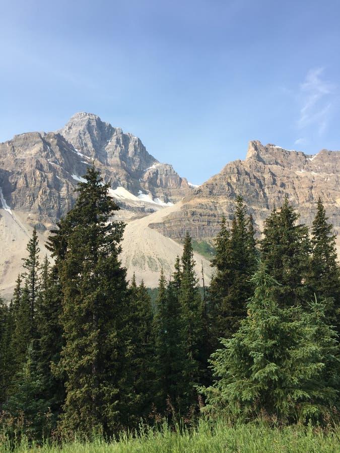 Sikt av bergkanjonen i Rocky Mountains Kanada royaltyfri bild
