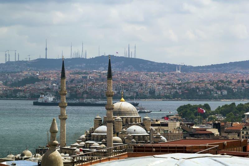 Sikt av Bosforus, Istanbul royaltyfri fotografi