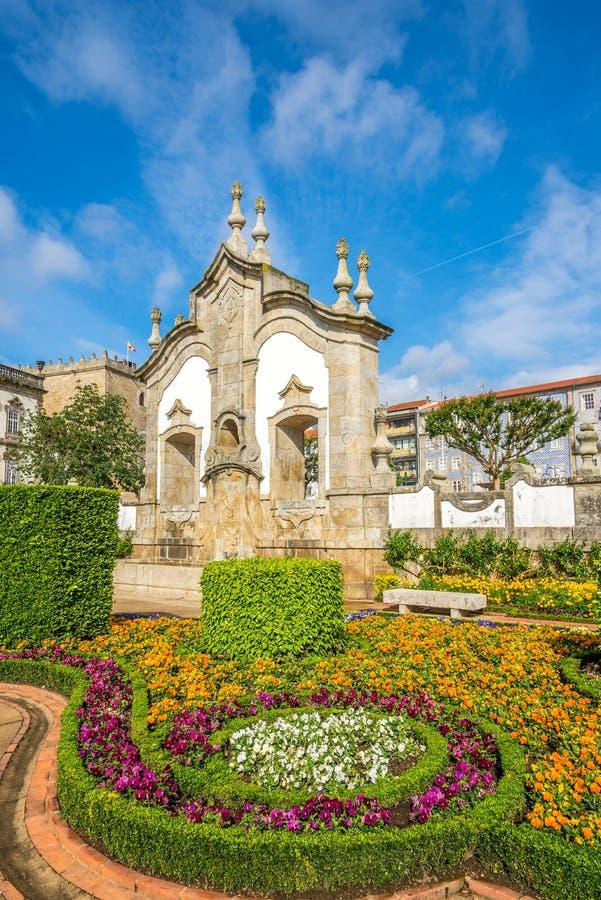 Sikt av botaniska trädgården i Barcelos, Portugal arkivfoto