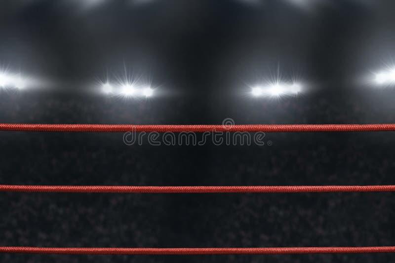 Sikt av boxningsringrepet arkivbild