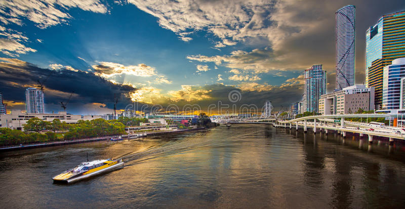 Sikt av Brisbane Queensland Australien royaltyfria foton