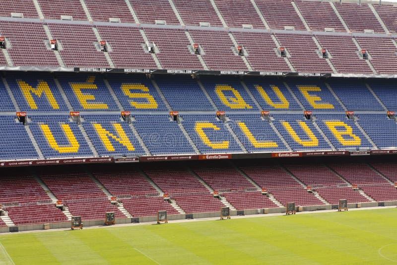 Sikt av Camp Nou stadion arkivbilder