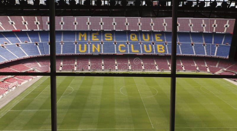 Sikt av Camp Nou stadion arkivbild