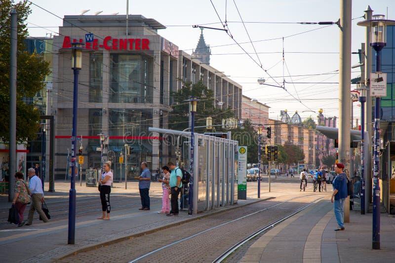 Sikt av centret av Magdeburg royaltyfri bild