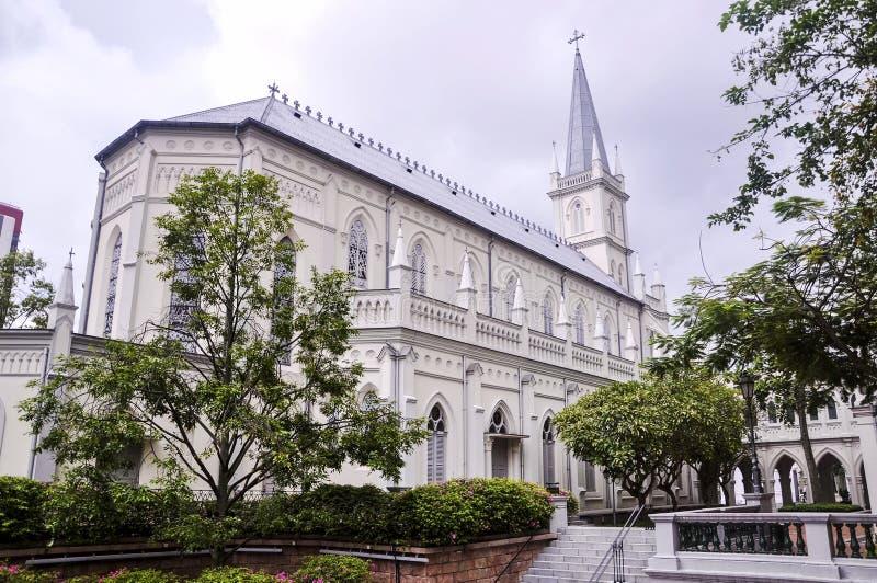 Sikt av CHIJMES i dagen Det är ett historisk byggnadkomplex i Singapore arkivbilder