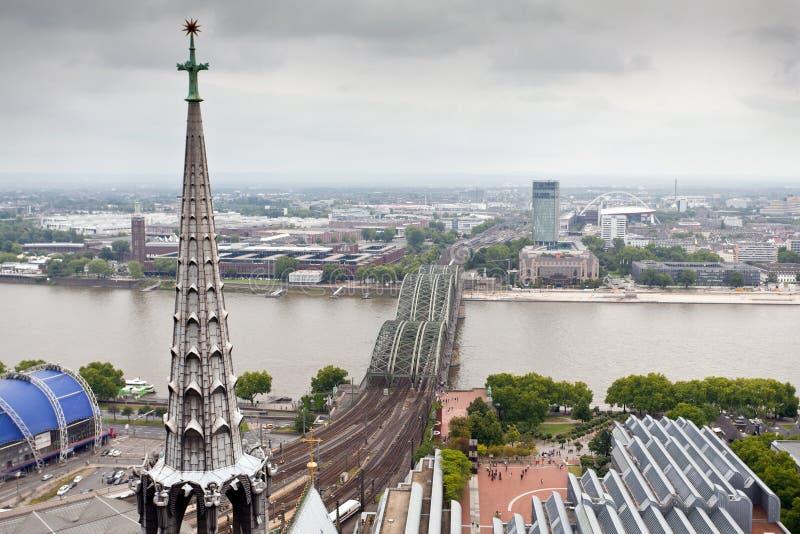 Sikt av Cologne, Tyskland royaltyfria bilder