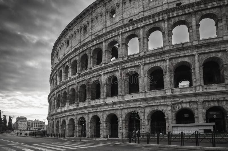 Sikt av Colosseum i Rome, Italien arkivfoto