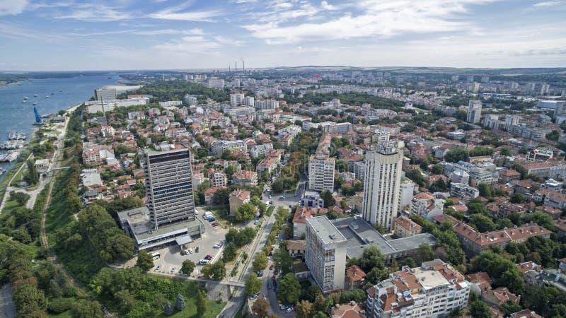 Sikt av Danubet River från över arkivfoton