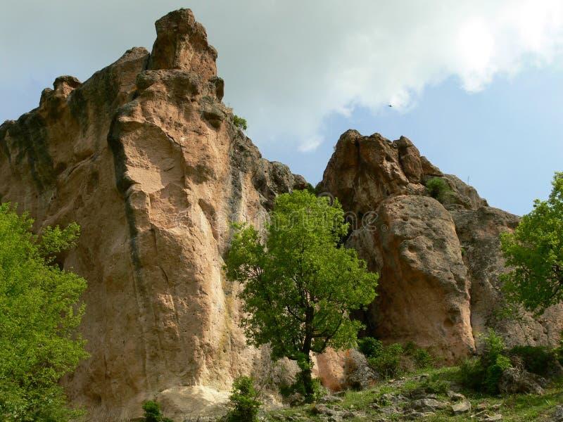 Sikt av de Rhodope bergen, Bulgarien royaltyfri bild