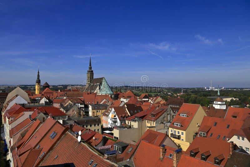 Sikt av den Bautzen Tyskland arkivbild