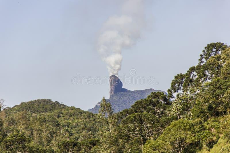 Sikt av den Bocaina bergslingan arkivbilder