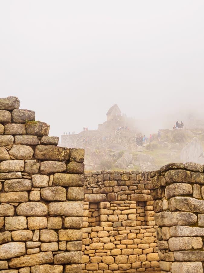 Sikt av den borttappade Incan staden av Machu Picchu nära Cusco, Peru royaltyfria foton