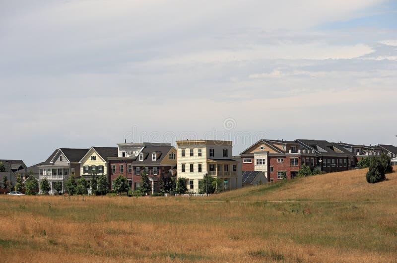 Sikt av den bostads- grannskapen i Colorado royaltyfria foton