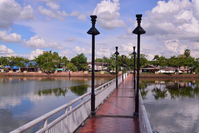 Sikt av den Buriram staden royaltyfri fotografi