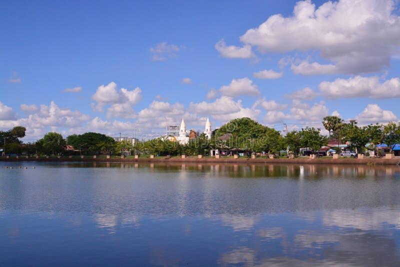 Sikt av den Buriram staden arkivbilder