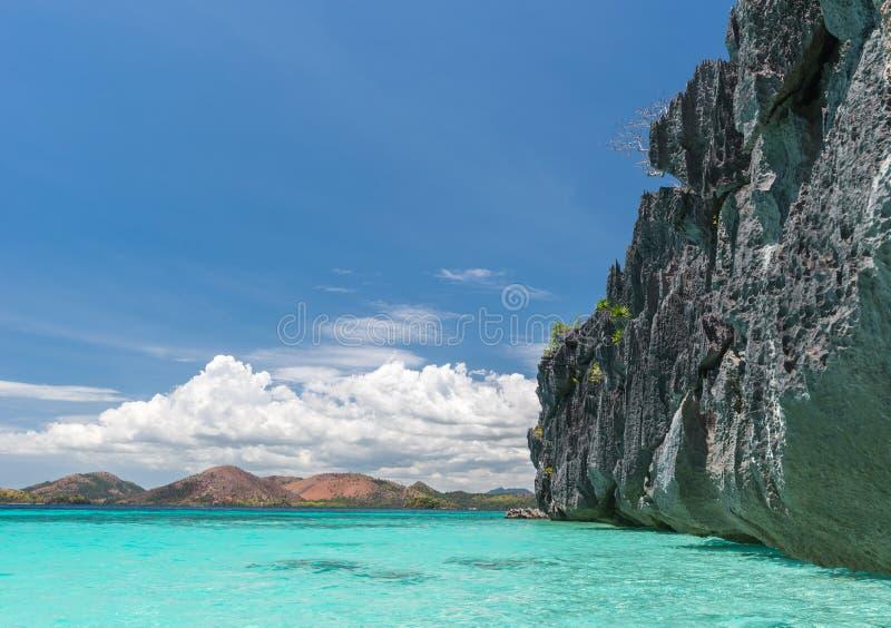 Sikt av den Coron östranden, Filippinerna royaltyfria foton