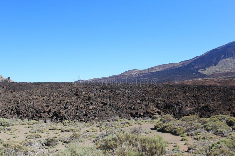 Sikt av den djupfrysta lavan av vulkan arkivbild