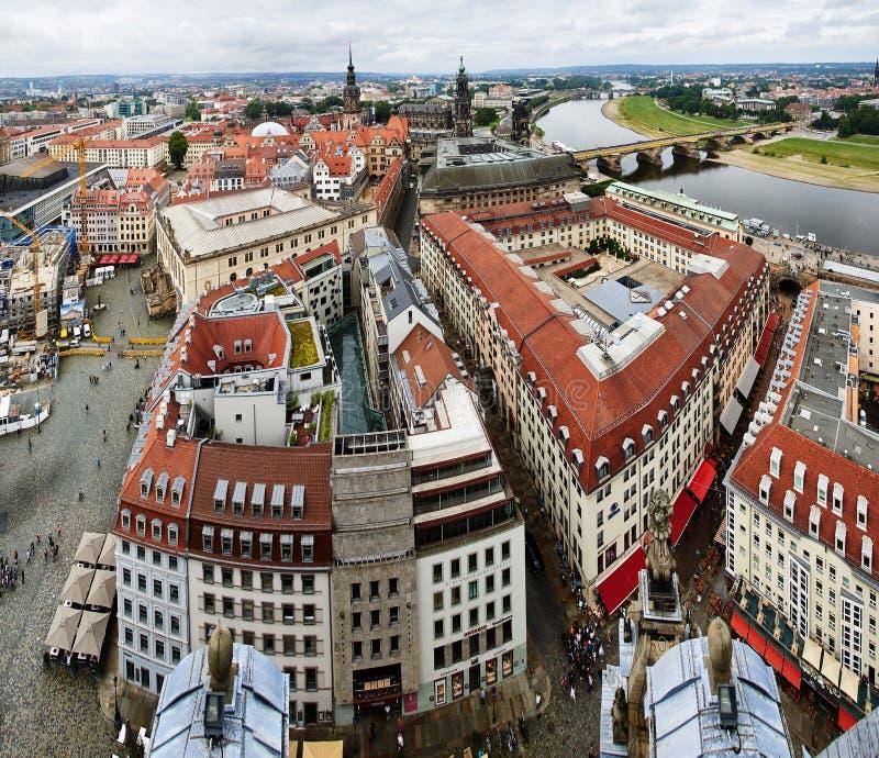 Sikt av den Dresden stadsmitten fotografering för bildbyråer