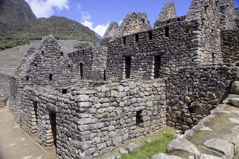 Sikt av den forntida Inca City av Machu Picchu, Peru royaltyfria foton