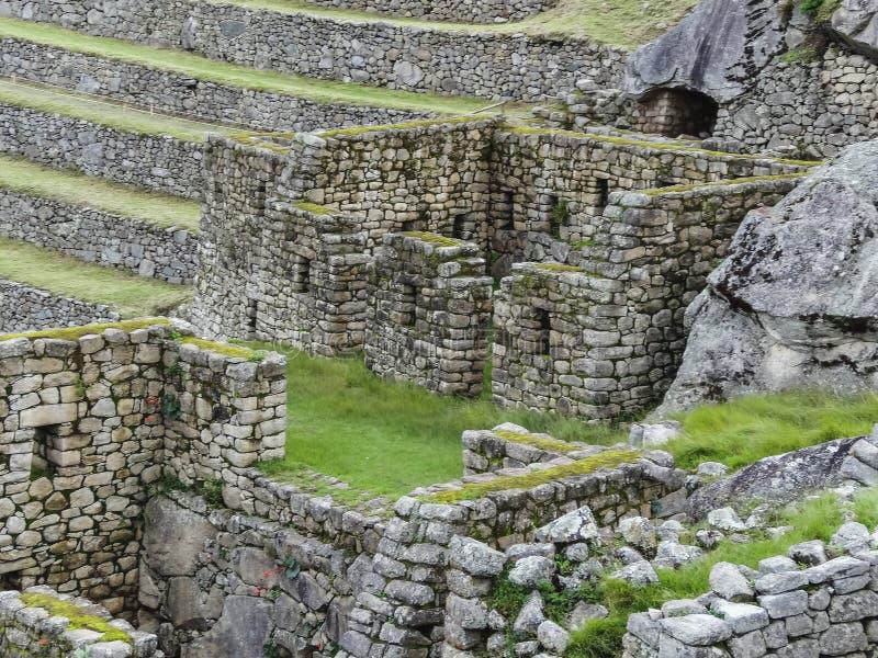 Sikt av den forntida Inca City av Machu Picchu royaltyfri fotografi