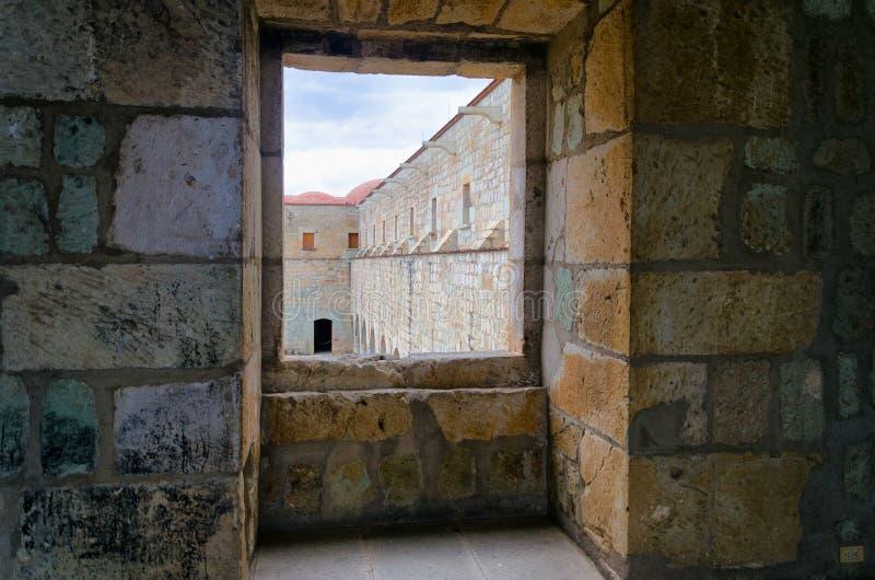 Sikt av den gamla kloster i Oaxaca royaltyfri bild