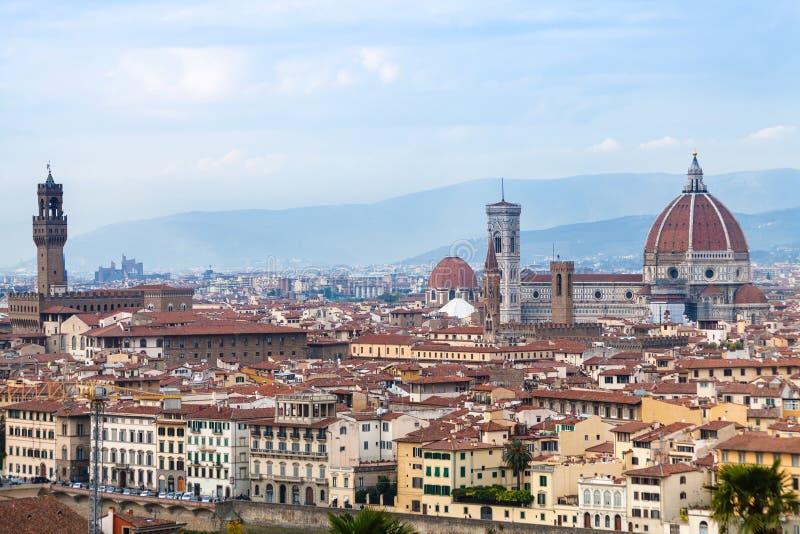 Sikt av den historiska mitten av den Florence staden arkivbilder