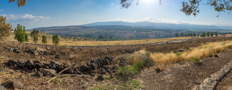 Sikt av den Hula dalen och upperen Galilee royaltyfri fotografi