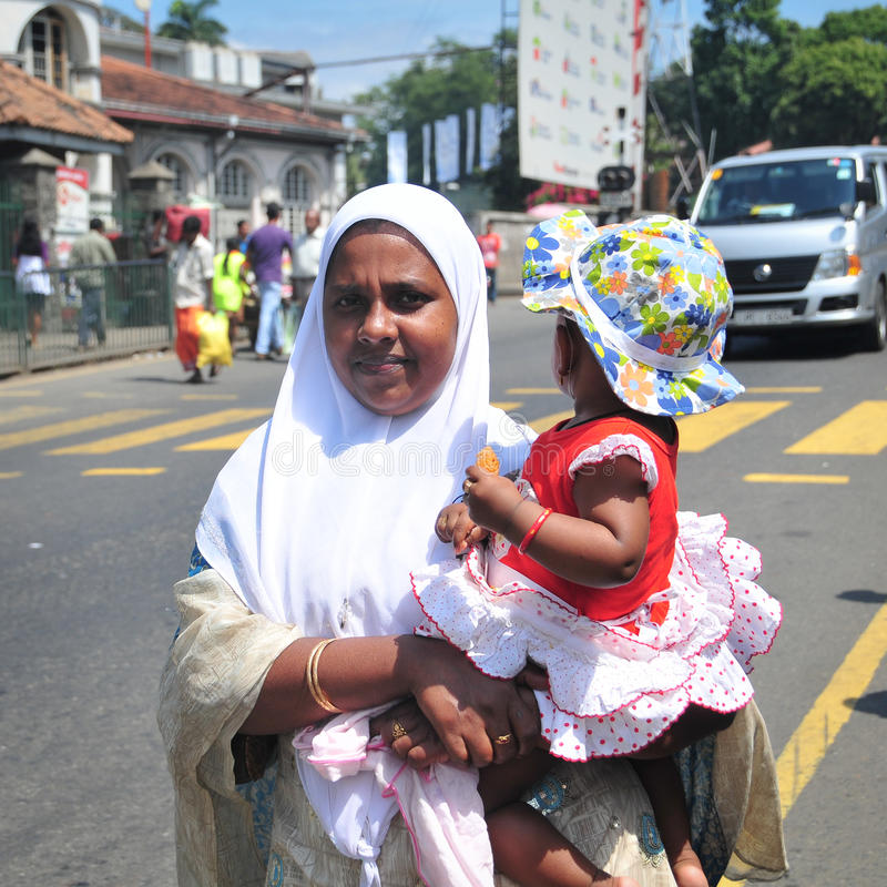 Sikt av den Kandy gatan royaltyfri foto