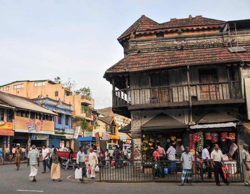 Sikt av den Kandy gatan royaltyfria bilder