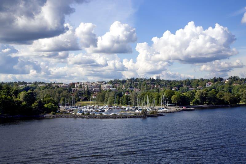 Sikt av den Kungsholmen ön royaltyfri bild