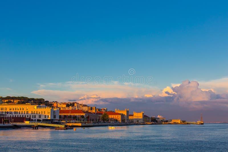 Sikt av den Lissabon staden, Portugal arkivfoton