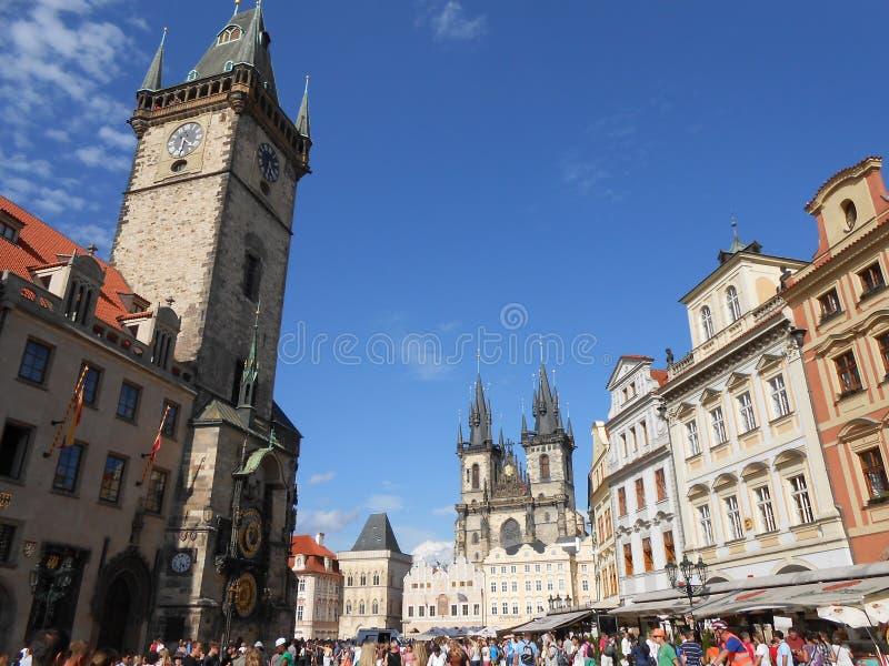 Sikt av den magiska Prague arkivfoto