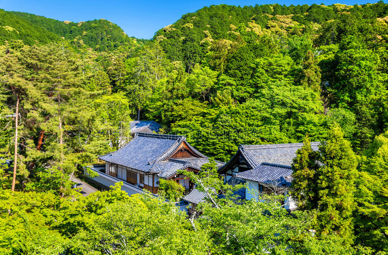 Sikt av den Nanzen-ji templet i Kyoto fotografering för bildbyråer