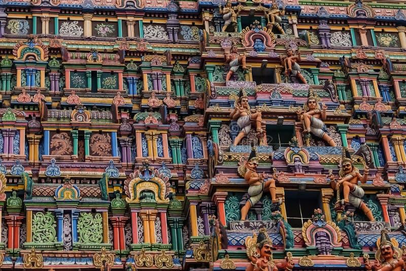 Sikt av den Nataraja templet, Chidambaram, Indien royaltyfri bild