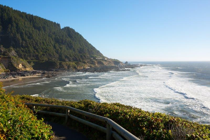 Sikt av den Oregon kustlinjen royaltyfria bilder